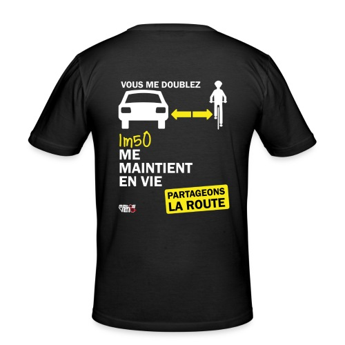 1m50-vie-noir - T-shirt près du corps Homme