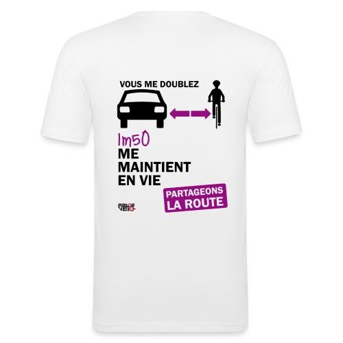 1m50-vie-blanc - T-shirt près du corps Homme