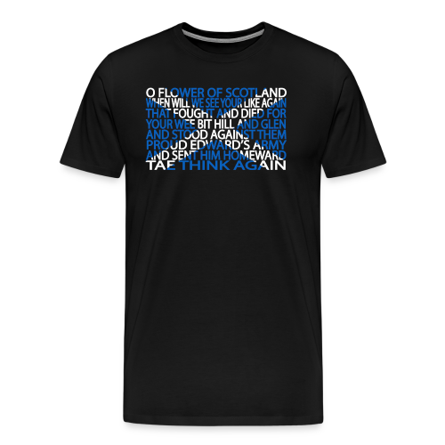 Flower of Scotland - Men's Premium T-Shirt