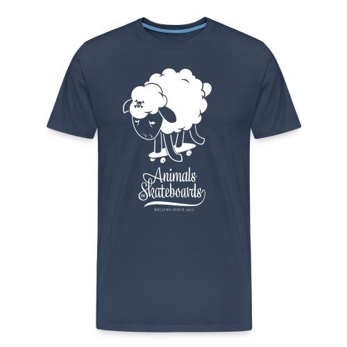 Animals on Skateboards/Sheep - Männer Premium T-Shirt