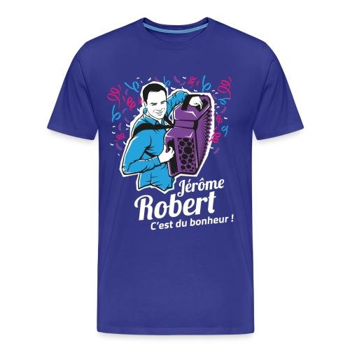 T-Shirt Bleu - Homme - Jérôme Robert - ILLUSTRATION - T-shirt Premium Homme