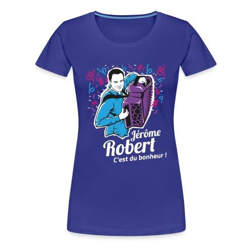 T-Shirt Bleu - Femme - Jérôme Robert - ILLUSTRATION - T-shirt Premium Femme