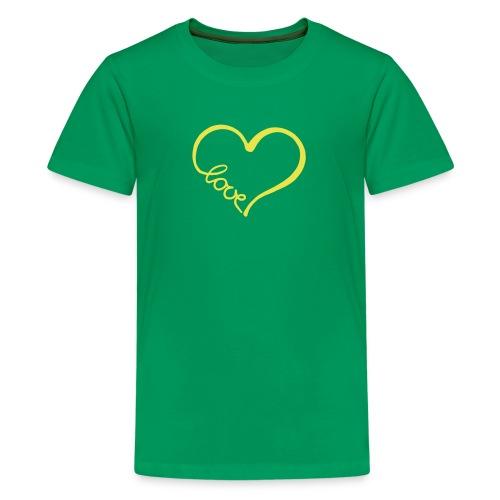 love heart 2 T-Shirts - Teenage Premium T-Shirt