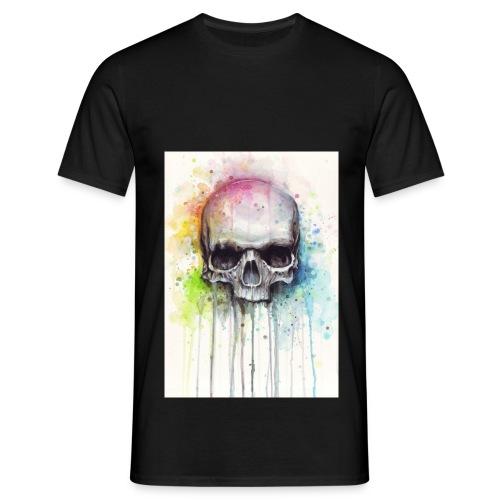 Skull Color Männer T-shirt - Männer T-Shirt