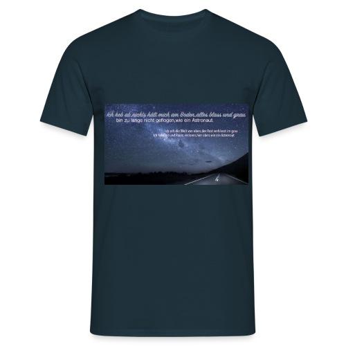 Text Astronaut Design T-shirt  - Männer T-Shirt
