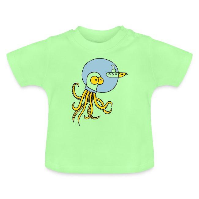 Tintenfisch trifft Uboot, Meer, tauchen, Boot Baby T-Shirts