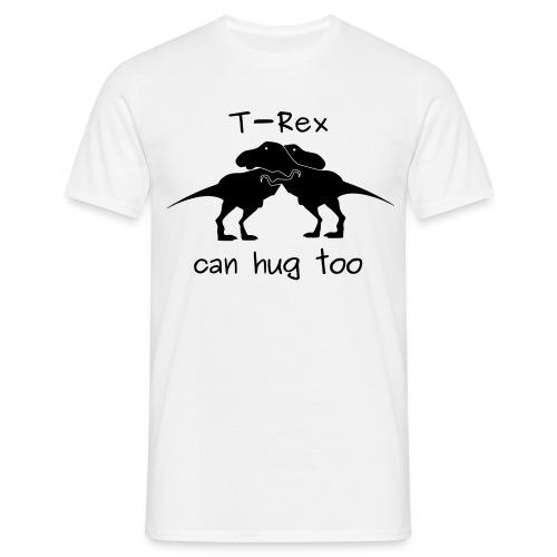maglietta abbraccio tirannosauri uomo bianca - Maglietta da uomo