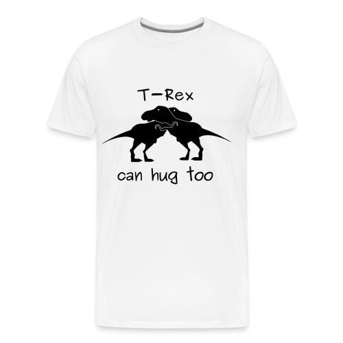 maglietta abbraccio tirannosauri uomo premium bianca - Maglietta Premium da uomo