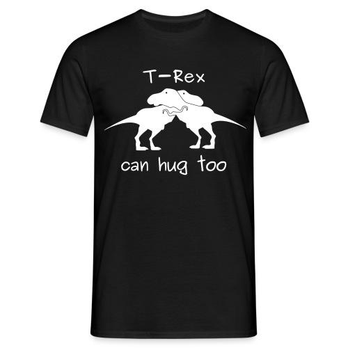 maglietta abbraccio tirannosauri uomo nera - Maglietta da uomo
