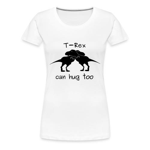 maglietta abbraccio tirannosauri donna premium bianca - Maglietta Premium da donna