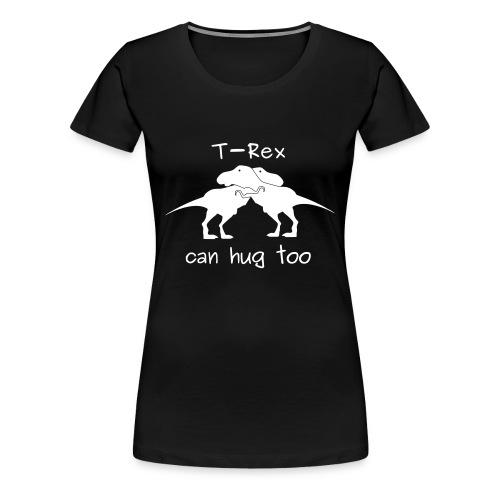 maglietta abbraccio tirannosauri donna premium nera - Maglietta Premium da donna