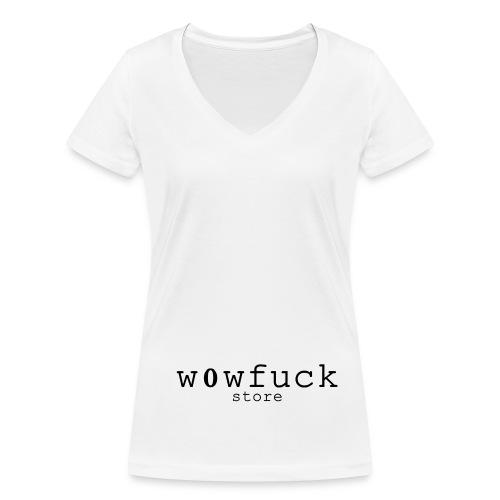 w0wfuckstore - Shirt  - Frauen Bio-T-Shirt mit V-Ausschnitt von Stanley & Stella