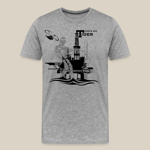 Oil Rig Oil Field North Sea Aberdeen Scotland T-Shirts - Men's Premium T-Shirt