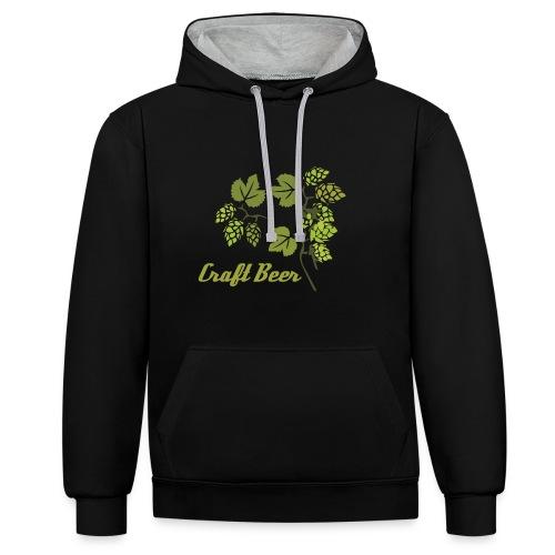 Sudadera Craft Beer - Sudadera con capucha en contraste