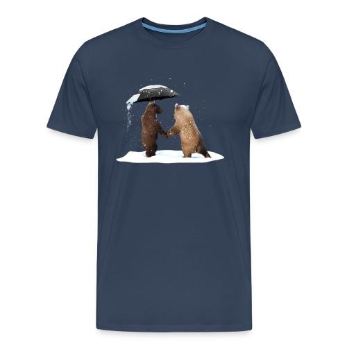 Junge-Bären-Liebe  - Men's Premium T-Shirt