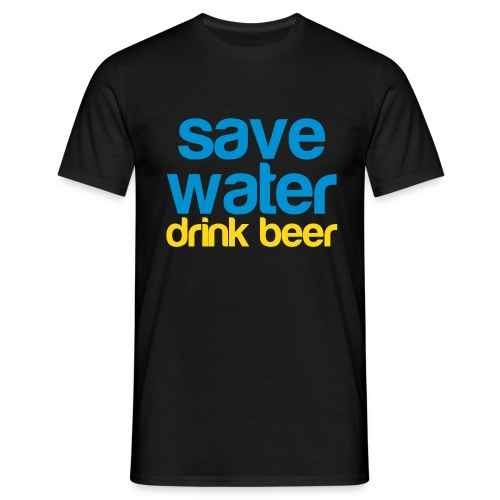 Grappig herenshirt Save water, drink beer!  - Mannen T-shirt