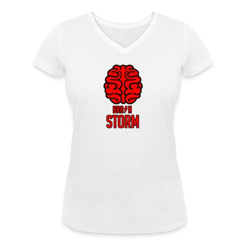 BrainStorm Women's V-Neck T-Shirt - Women's Organic V-Neck T-Shirt by Stanley & Stella