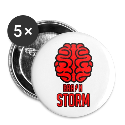 BrainStorm Pack of 5x 56mm Buttons - Buttons large 2.2''/56 mm(5-pack)