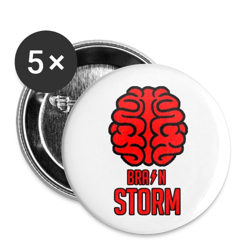 BrainStorm Pack of 5x 25 mm Buttons - Buttons small 1''/25 mm (5-pack)