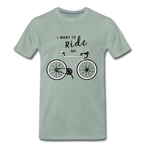 Bon Voyage! Flock Print - Mannen Premium T-shirt