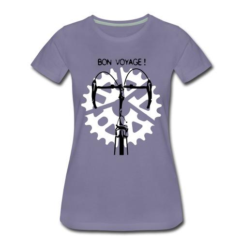 Bon Voyage! Flockdruk - Vrouwen Premium T-shirt