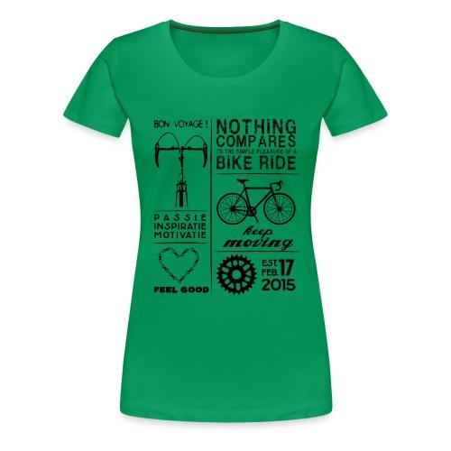 Bike collage.....Digitale print - Vrouwen Premium T-shirt
