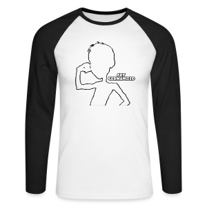 Get Germanized Silhouette Baseball Long Bright - Men's Long Sleeve Baseball T-Shirt