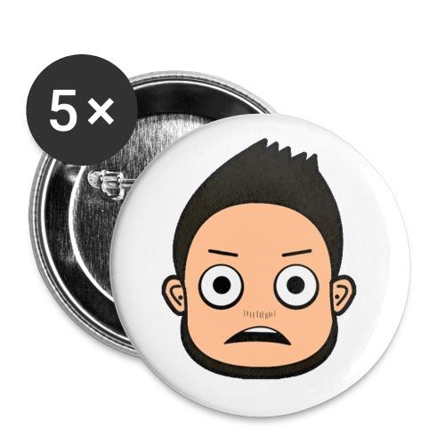 Erschrocken Cartoon Buttons - Buttons medium 32 mm