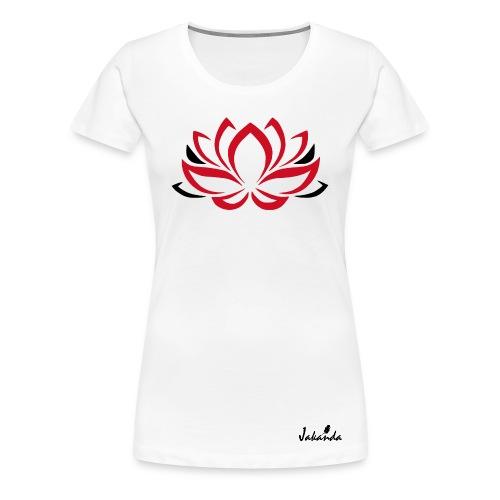 Lotus rot - Frauen Premium T-Shirt