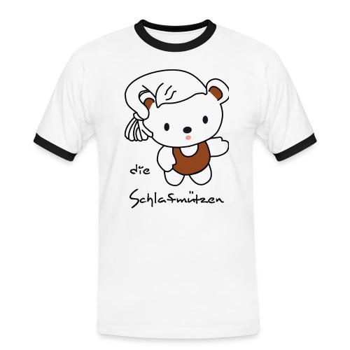 Männer-Shirt großes Brustlogo - Männer Kontrast-T-Shirt