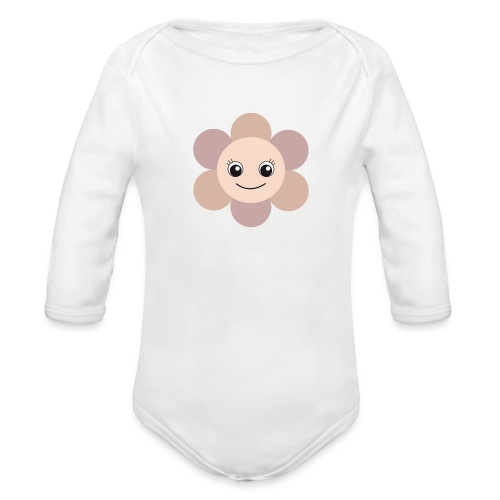 Blümchen - Baby Bio-Langarm-Body