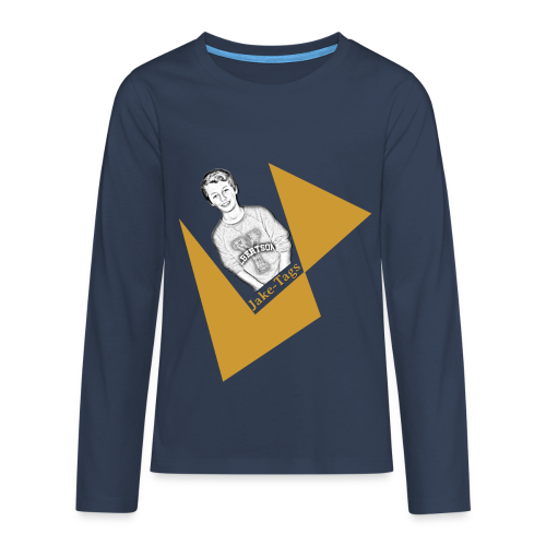 JakeTags-Logo Longsleve - Teenager Premium Langarmshirt