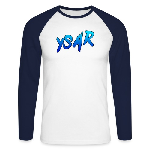 YsaR Text Long Sleeve Baseball Tee - Men's Long Sleeve Baseball T-Shirt