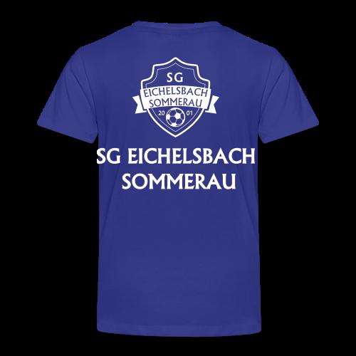 Kinder Premium T-Shirt mit Wappen und Schriftzug auf Rücken - Kinder Premium T-Shirt