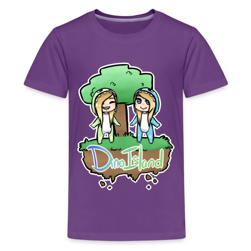 Kids/Teens Dino Island Shirt - Teenage Premium T-Shirt