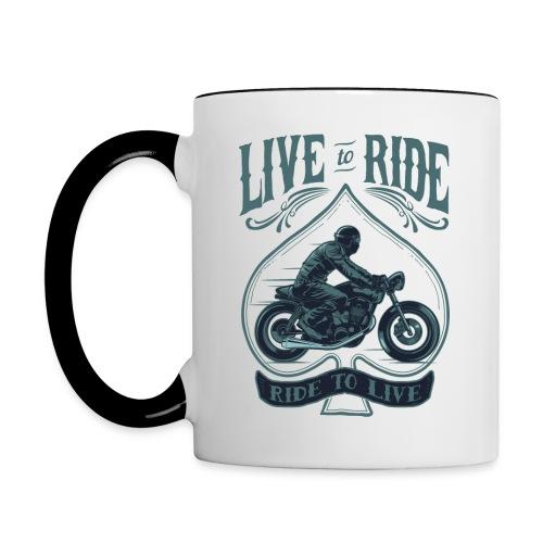 Live to Ride Tasse - Tasse zweifarbig