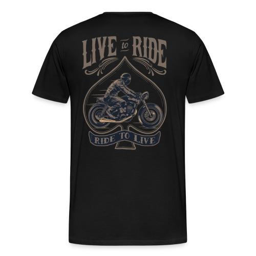 Live To Ride - Biker Shirt Dark - Männer Premium T-Shirt
