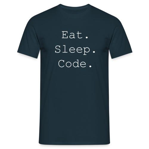 EatSleepCode - Männer T-Shirt