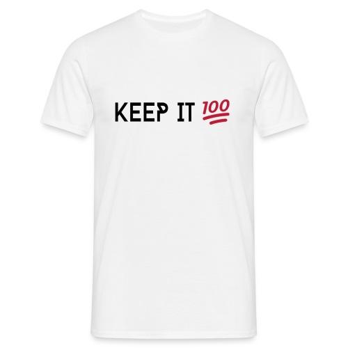 #WABG Crew Neck - Keep it 100 White - Mannen T-shirt