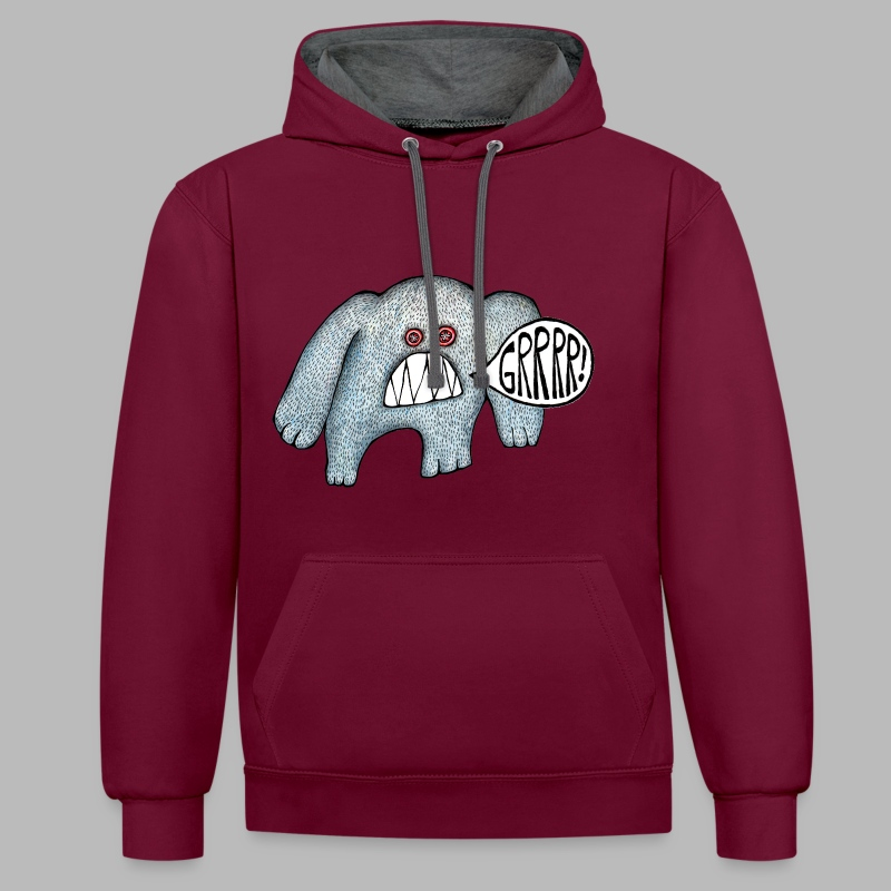 with added GRRRR!!! Unisex Hoodie - Contrast Colour Hoodie