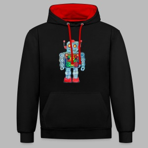 ROBOT Unisex Hoodie - Contrast Colour Hoodie