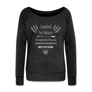Inspired by Nature, Powered by Plants - Women's Boat Neck Long Sleeve Top