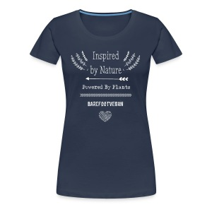 Inspired by Nature, Navy - Women's Premium T-Shirt