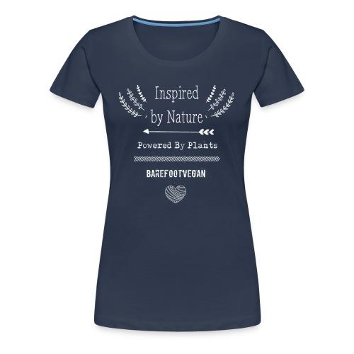 Inspired by Nature, Navy - Women's Premium T-Shirt