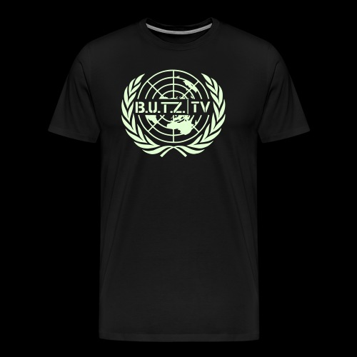 Shirt fluoreszierend (leuchtet im dunkeln du Trottel Kappa) - Männer Premium T-Shirt