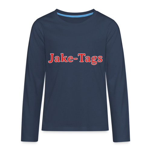 JakeTags-Schriftzug Longsleve - Teenager Premium Langarmshirt