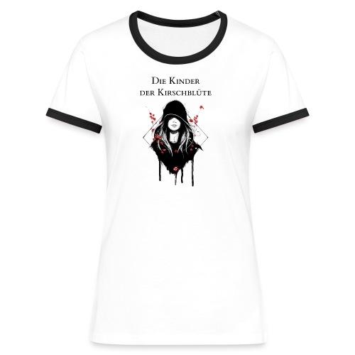 Frauen Kontrast Shirt mit Text - Frauen Kontrast-T-Shirt