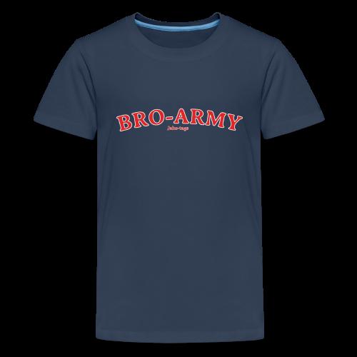 JakeTags-Bro-Army PremiumShirt - Teenager Premium T-Shirt