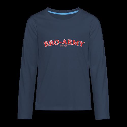 JakeTags-Bro-Army Longsleve - Teenager Premium Langarmshirt