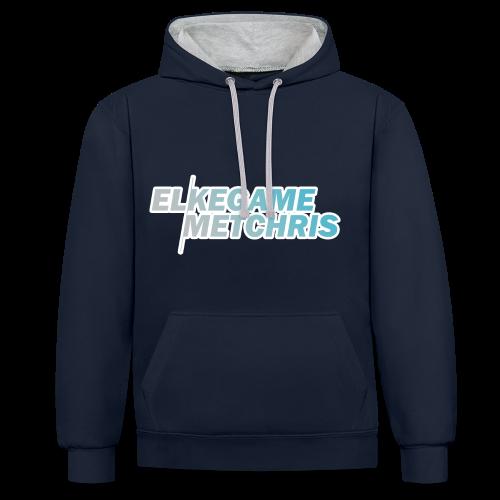 Mannen/Vrouwen EGMC Hoodie (Navy/Grijs) - Contrast hoodie